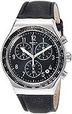Swatch Reloj Analógico para Hombre de Cuarzo con Correa en Cuero YVS448