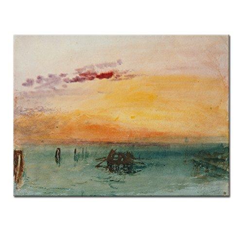 """Wandkings Leinwandbild """"Venedig von Fusina aus gesehen"""" von Joseph Mallord William Turner / 120 x 90 cm / auf Keilrahmen"""