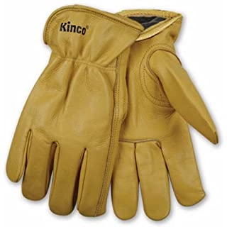 KINCO 98RL-L Men's Lined Cowhide Gloves, Heat Keep Lining, Keystone Thumb, Large, Golden by KINCO INTERNATIONAL