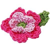 10pz 2 Strati Crochet Fiore Appliques Handmade Crochet Flower Cucito Artigianale