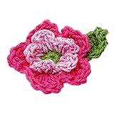10pcs Flores artesanales de 5 Pétalos con 2 Capas --- Rosado