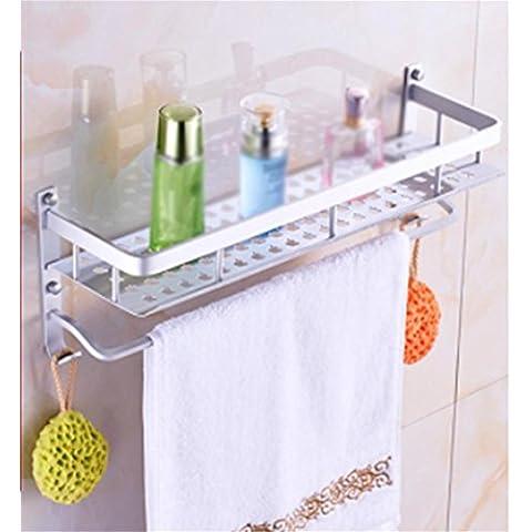 pengweiMensola spazio bagno in alluminio scaffali cosmetici