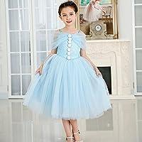 QTONGZHUANG Kleid Kleid Neue Sommer Lange Flauschige Blumenmädchen Kleid Kleid Kinderkleidung