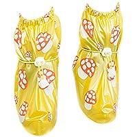Babysbreath Cubierta Antideslizante de los Zapatos Cubierta Antideslizante de los Zapatos de los niños Cubierta Antideslizante del Zapato del Espesamiento Amarillo XL