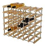 RTA - Portabottiglie Tradizionale per 36 Bottiglie, in Legno di Pino Naturale (FSC)