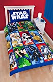 NEW OFFICIAL STAR WARS CARTONS SINGLE DUVET QUILT COVER KIDS BOYS ROTARY BEDDING SET (SWC1)