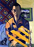Self-Portrait - By Ernst Ludwig Kirchner - Leinwanddrucke 20x28 Inch Ungerahmt