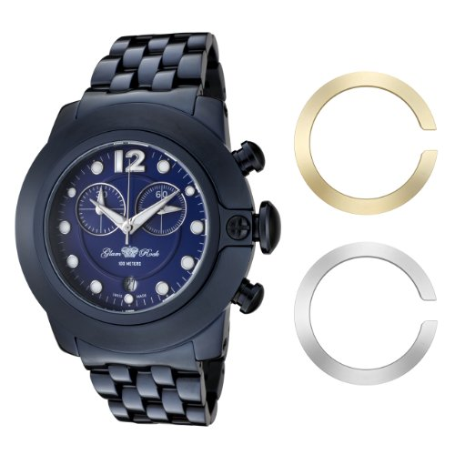 Glam Rock Women's GR32161 SoBe Chronograph Blue Dial Blue Ion-Plated Stainless Steel Watch