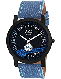 Relish RE-S8123BB Black Slim Analog Watches For Men's And Boy's