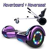 Hoverboard 6,5' con Asiento Kart Patinete Eléctrico,...