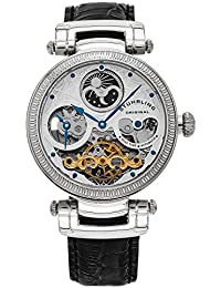 Stuhrling Original Magistrate Men's Automatic Watch with Silver Dial Analogue Display and Black Leather Strap 353A.33152