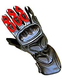 Juicy Trendz Heavy Duty moto de la motocicleta guantes de cuero piel de vaca Colección impermeable