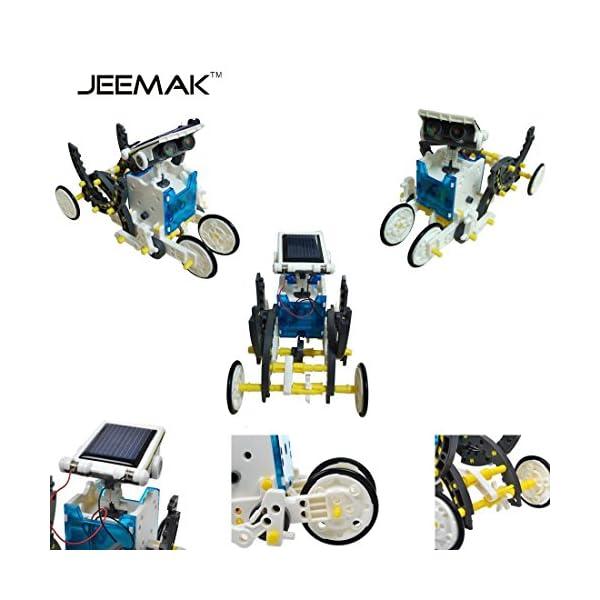 51CAepDdtWL. SS600  - JEEMAK 14-en-1 para la Educación Solar Robot Kit