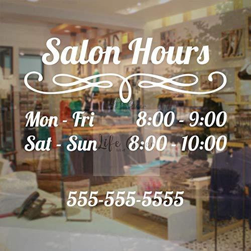 Yyoutop Custom Salon Work Hour Etiqueta Pared Salon