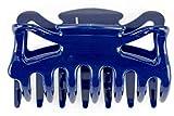 1Stk Haarkralle groß ca 9cm lang in stahlblau - Made