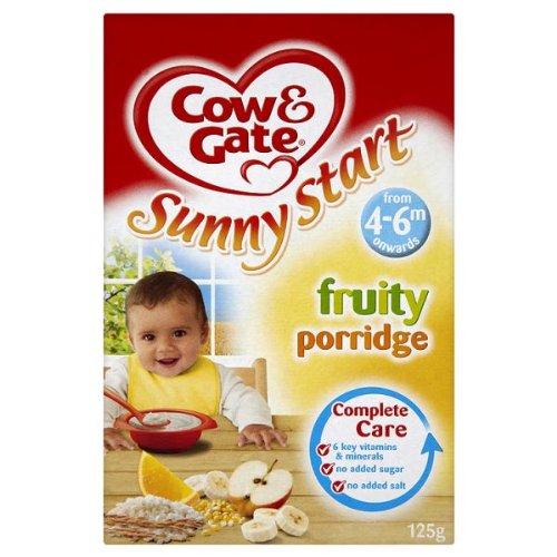 Cow & Gate Ensoleillé Démarrer fruité Porridge de 4 - 6m Partir de 6 x 125g