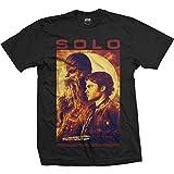 Star Wars Han Solo Chewbacca Sun Portrait Oficial Camiseta para Hombre (X-Large)