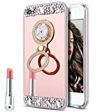 Coque iPhone 4S,Coque iPhone 4,ikasus [Support de bague] Placage brillant strass...