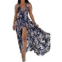 Guiran Vestiti Donna Estivi Vestiti Floreali Donna Halter Spalla Nuda Abito  con Spacco Vestito dalla Spiaggia b450a95ded6