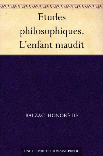 etudes-philosophiques-lenfant-maudit-french-edition