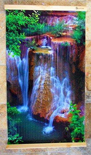 Infrarotheizung 450W Bildheizung Heizbild Infrarot Wandheizung Bild Heizer Infra (Exotic Waterfall)