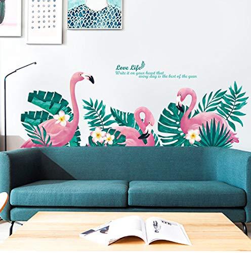 floolter Pink Flamingo Unicorn Wandaufkleber für Kinderzimmer Mädchen Zimmer Schlafzimmer Dekor Cartoon Tier Ballon Aufkleber für Wall Room Decor 60X90CM