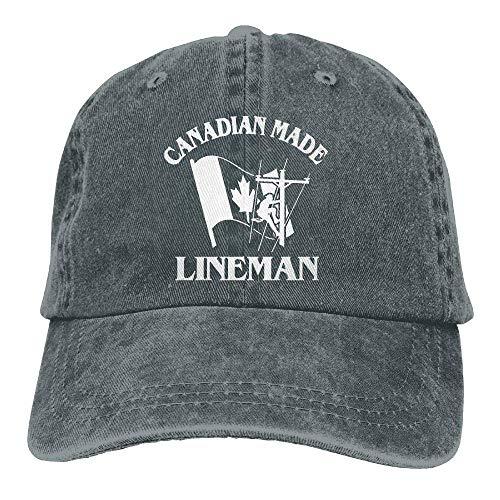 Hoswee Baseballmütze Hüte Kappe Canadian Lineman Unisex Printing Baseball Cap Adjustable Hat Military Caps