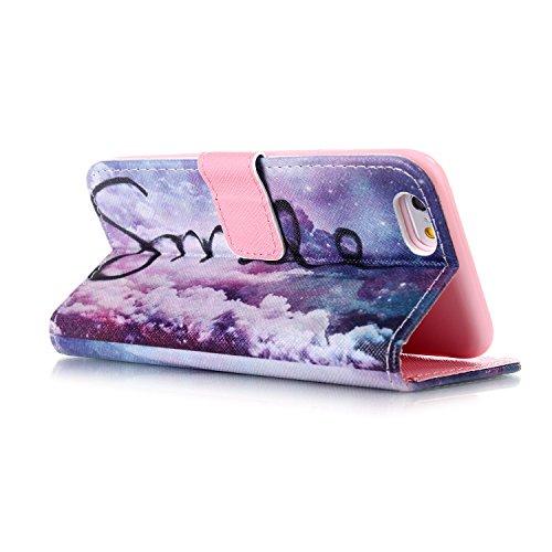 iPhone 4S Wallet Case Cover - Felfy Ultra Slim Cuir Coque Pour Apple iPhone 4/4S Flip Rose Ocean Sea Beau Scenery Motif PU Étui Portefeuille Housse Etui Holster + 1x Pink Touch Stylus + 1x Bling Pink  Violet Flower
