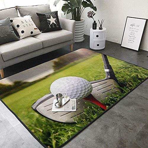 SESILY Moderner Flächenteppich Schlafzimmer Teppich Golfball Club Print Teppiche Flächenteppich Büro Wohnzimmer Essbereich Teppiche