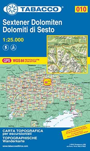 Tabacco Wandern 1 : 25 000 Sextener Dolomiten: Dolomiti di Sesto [Lingua inglese]