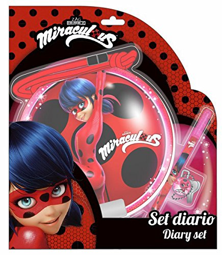 Lady Bug Miraculous Ladybug Set Diario, Color Rosa, 26 cm (SAFTA 311712803)