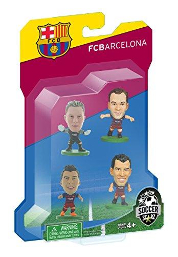 Soccer Starz Barcelona 4Player Blister Version B Home Kit (rot/blau)