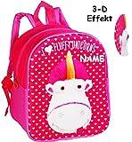 Unbekannt 3-D Effekt _ Kinder Rucksack -  Einhorn Fluffy - Minions - Ich einfach unverbesserlich  - incl. Name - Tasche - wasserfest & beschichtet - Kinderrucksack / ..