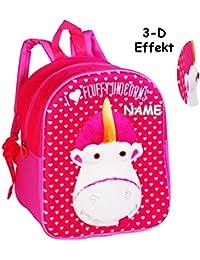 Preisvergleich für alles-meine.de GmbH 3-D Effekt _ Kinder Rucksack - Einhorn Fluffy - Minions - Ich Einfach unverb..