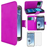 ebestStar - Compatible Coque Samsung S3 Galaxy i9300 i9305 Etui PU Cuir Housse Portefeuille Porte-Cartes Support Stand, Noir +...