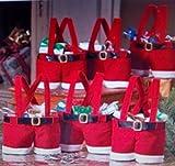 2 Mini Nikolaus-Stiefel-Socke-kurze-Hose originelle-Idee Textil Strick, Filz, Teddystoff,Advent Stiefel, Weihnachtsstiefel