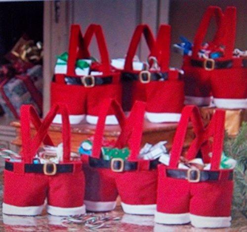 fel-Socke-kurze-Hose originelle-Idee Textil Strick, Filz, Teddystoff,Advent Stiefel, Weihnachtsstiefel (Mini-filz-weihnachts-strümpfe)