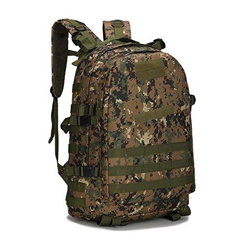 40l molle 3D zaini campeggio borsa di assalto tattici all' aperto militare di zaino per portatile da 10a 39,6cm, Black Jungle Digital