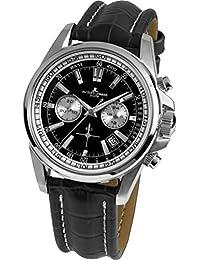 Jacques Lemans Herren-Armbanduhr Liverpool Analog Quarz Leder 1-1117.1AN