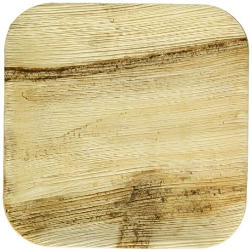 Leaf & Fiber 25 Count Elegant and Sustainable Fallen Palm Leaf Plates, 6, Brown by Leaf & Fiber - Sustainable Palm