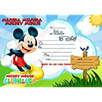 8 X DISNEY MICKEY MOUSE INVITATIONS CARDS BIRTHDAY PARTY INVITES THICK FREE