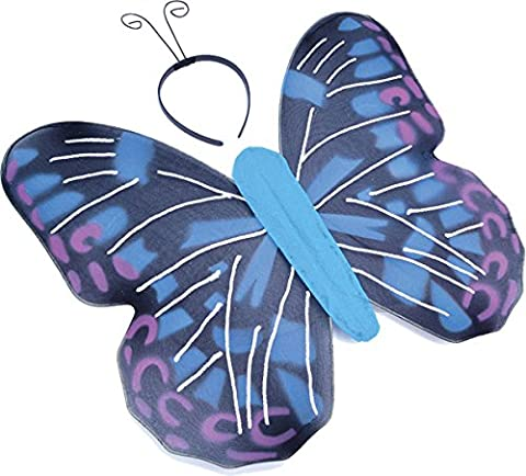Children Ugly Bug Ball Fairy Fancy Party Blue Butterfly Kit