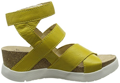 Fly London - Wege669fly, Sandales Pour Femmes Jaunes (citron 005)
