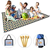 Picnic Blanket Lightweight Waterproof Sand-Proof Foldable Backpack Outdoor Camping Mat Double Layers 200