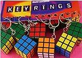 1x Rubiks Rubix Puzzle Cube Keyring Rubic Key Ring Party Bag