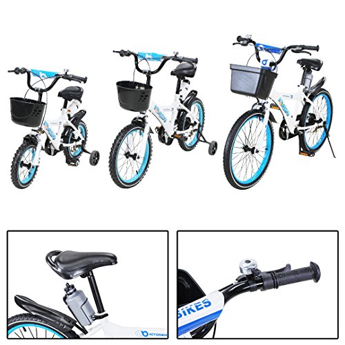 Actionbikes Motors Kinderfahrrad Donaldo ab 3-9 Jahren 12 16 20 Zoll Blau Kinder Mädchen Jungen Fahrrad … (16` Zoll)