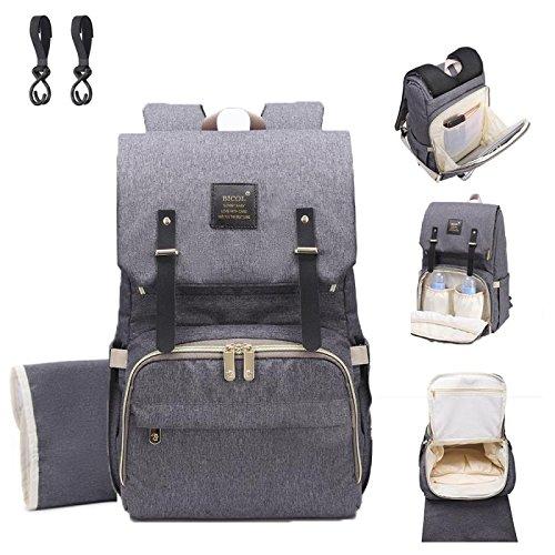 Preisvergleich Produktbild Baby Wickelrucksack Rucksack Wickeltasche Multifunktional Segeltuch Große Kapazität Babytasche Kein Formaldehyd Reisetasche für Unterwegs