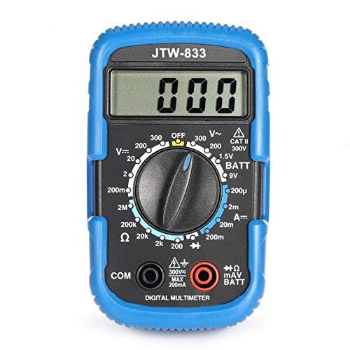 Heaviesk Digital Multimeter JTW-833 Handheld Mini Digital Multimeter 1999 Zählt AC/DC Volt Amp Ohm Diode Batterie Tester Amperemeter Voltmeter Handheld-multimeter