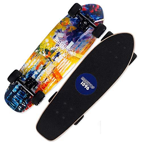 HNYJRYBH Hochwertige Big Fish Plate Skateboard, Jugend Brush Street Car Männer und Frauen Generation Vier Runden Anfänger Skateboard