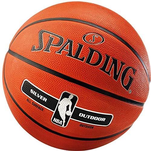 Spalding Basketball für Kinder & Erwachsene Outdoor Street Ball Größe 3 5 6 7 (7 mit Ballpumpe)